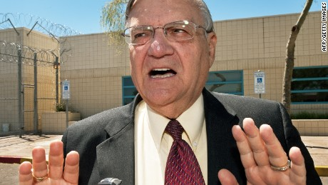 Maricopa County Sheriff Joe Arpaio speaks with a reporter in May 2010.