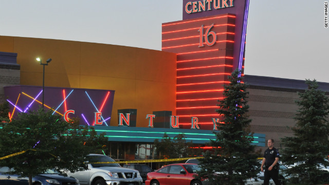 "A gunman attacked moviegoers during a screening of ""The Dark Knight Rises"" at the Century Aurora 16 in Colorado on Friday."