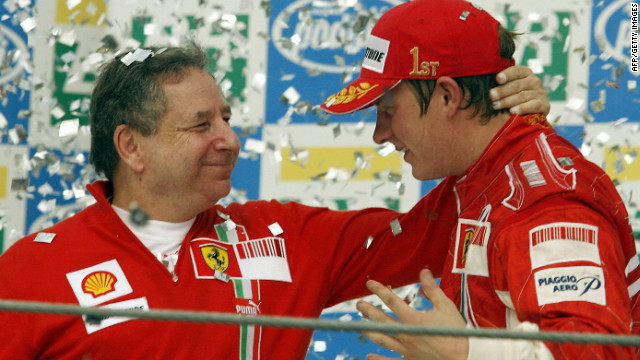 Jean Todt, left, presided over Ferrari's last world drivers' title when Kimi Raikkonen triumphed in 2007.