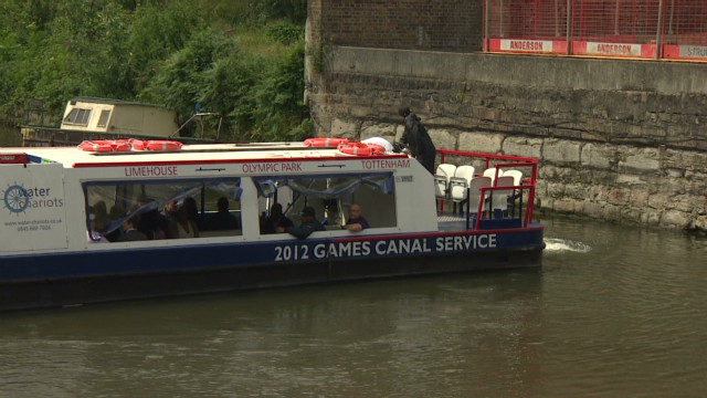 Canal boats beat Olympic traffic