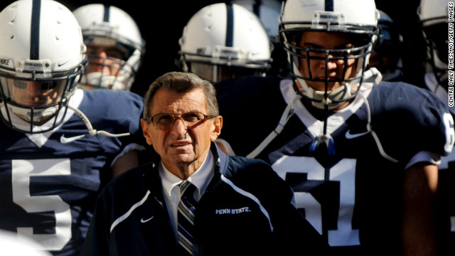 Penn State football coach Joe Paterno is shown in the tunnel before the Nittany Lions game against Temple on September 25, 2010, in State College, Pennsylvania. (Nabil K. Mark/Centre Daily Times/MCT via Getty Images)