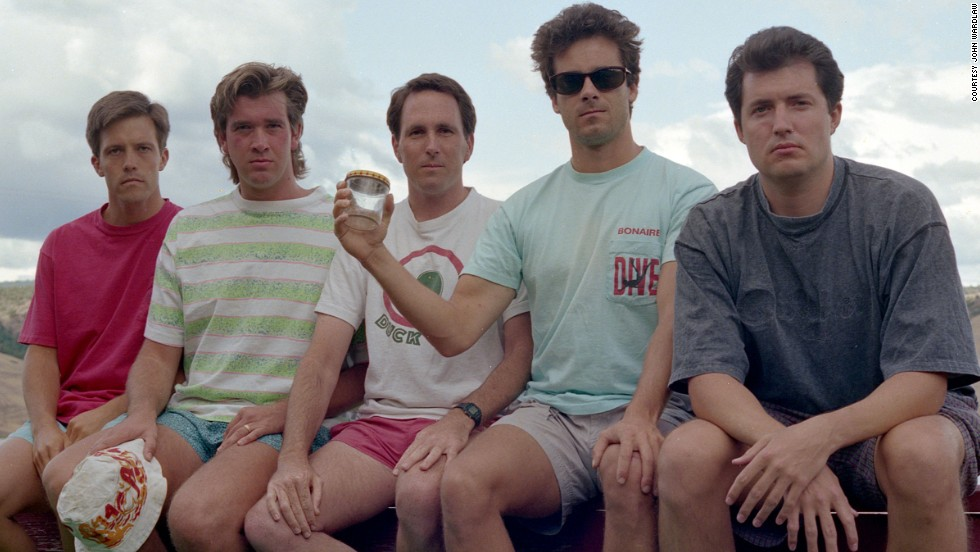 <strong>Copco Lake, 1992.</strong> From left to right: John Wardlaw, Mark Rumer-Cleary, Dallas Burney, John Molony and John Dickson in 1992.