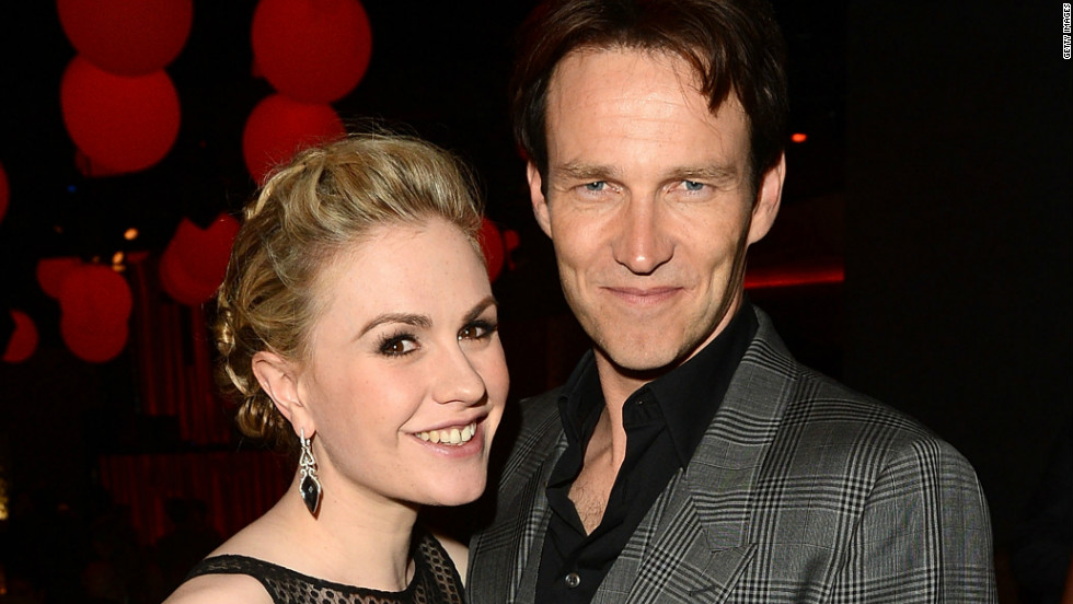 "Anna Paquin celebrated LGBT Pride Month in June 2014 by <a href=""https://twitter.com/AnnaPaquin/with_replies"" target=""_blank"">proudly declaring her status</a> as a ""happily married bisexual mother."" The ""True Blood"" actress has been wed to her co-star Stephen Moyer, right, since 2010, <a href=""http://marquee.blogs.cnn.com/2010/04/01/anna-paquin-comes-out-as-a-bisexual/?iref=allsearch"" target=""_blank"">the same year she initially shared her sexual orientation with the public</a>. ""Marriage is about love,"" Paquin tweeted on June 8, ""not gender."""