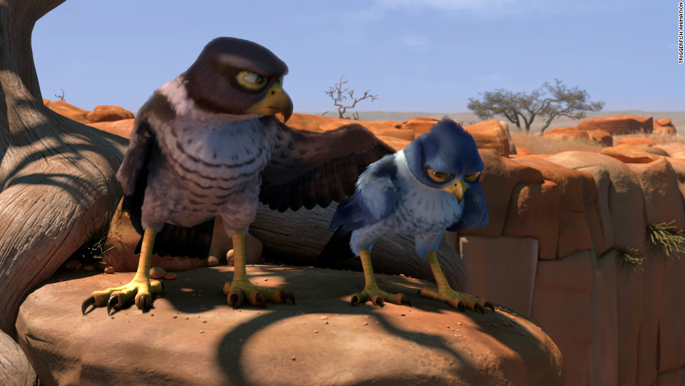 The young falcon lives with his father, Tendai (Samuel L. Jackson), in a deserted outpost before leaving to explore life in the famed bird city of Zambezia.