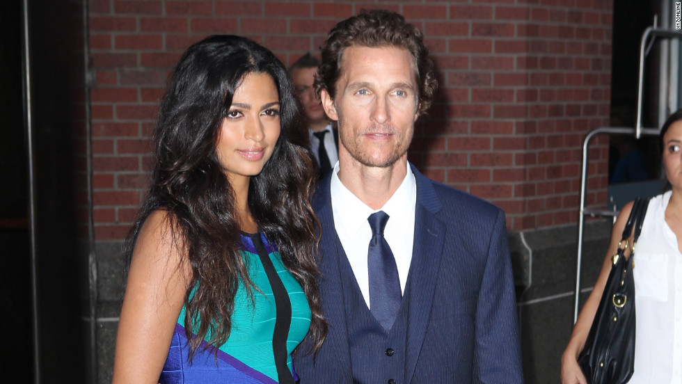Matthew McConaughey and Camila Alves attend an event in New York City.