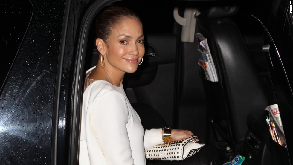 Jennifer Lopez heads back to her hotel in New York City.