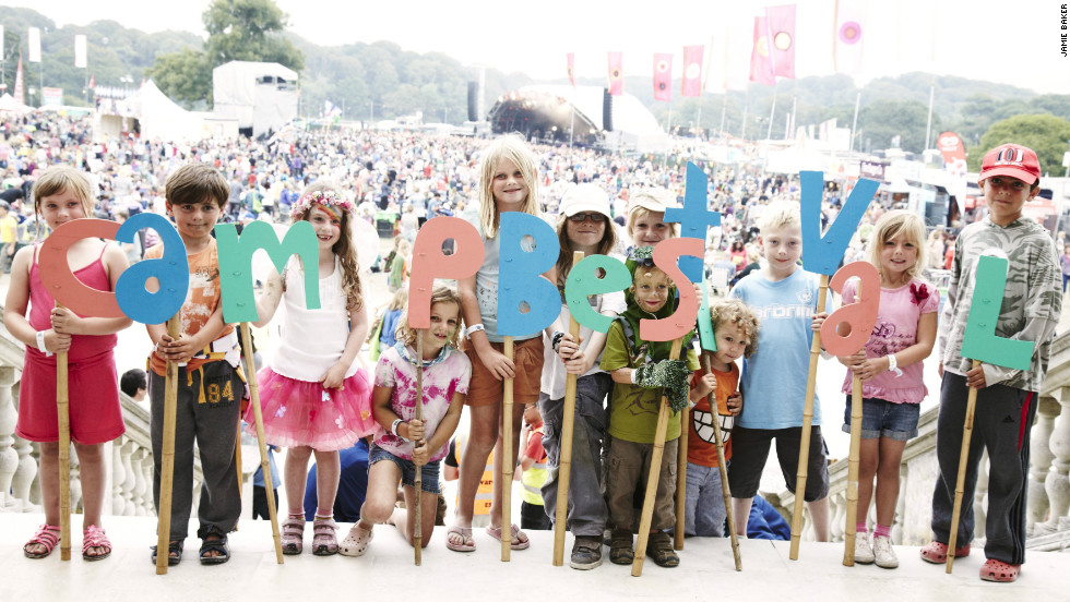 "The award winning music festival ""Camp Bestival"" is held at the majestic Lulworth Castle. Each year some of the world's most popular acts play at the festival, which was specially created for music-loving families with  children."