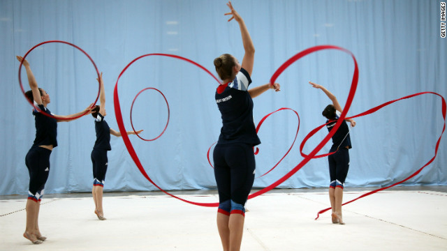 Great Britain Rhythmic Gymnastics Team prepare in the lead up to London 2012 Olymics.