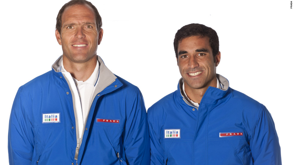 World-renowned Italian fashion house Prada was a natural choice to design these understated and simple uniforms for the Italian sailing team.