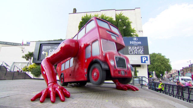 Double-decker bus gets in shape