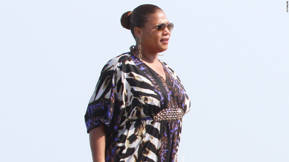 Queen Latifah enjoys Saint Tropez.
