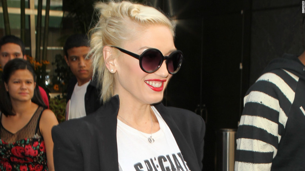 Gwen Stefani exits her New York hotel on July 26.