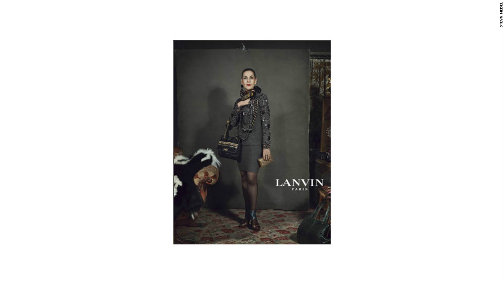 Tziporah Salamon, 62, is another citizen-turned-model in Lanvin's fall 2012 ad campaign.