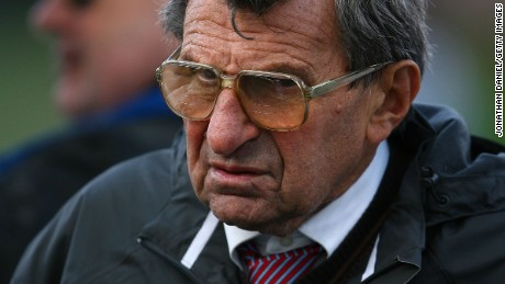 Joe Paterno, shown in 2009, was Penn State's head coach while Jerry Sandusky was an assistant.