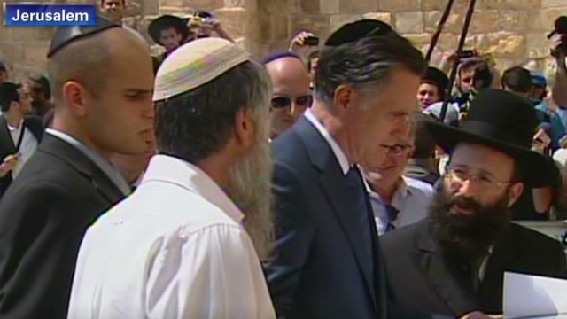 Political stakes for Romney in Israel