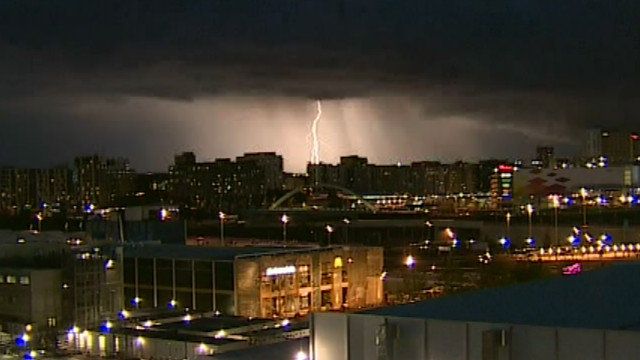 Watch lightning light up London sky