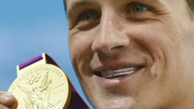 Ryan Lochte shows off his grill