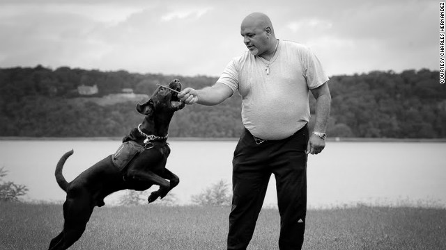 Charles Hernandez, 49, credits his dog Valor for helping him cope with PTSD.