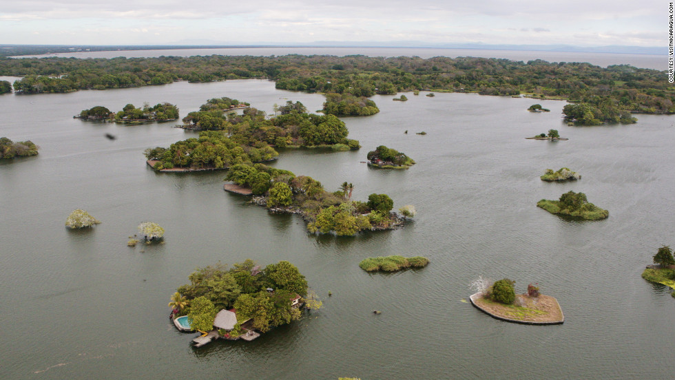 Lake Nicaragua contains a group of 365 small volcanic islands called the Islets of Granada.