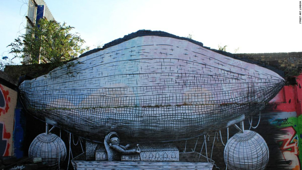 "Phlegm is described by Richard Howard-Griffin as ""one of the most exciting artists on the global street art scene at present, let alone London."" Not all of his works in Hackney Wick survive."