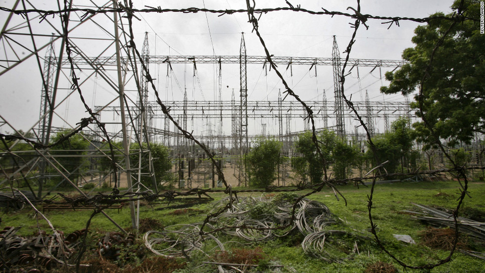 An electric power station on the outskirts of Jammu on Tuesday.