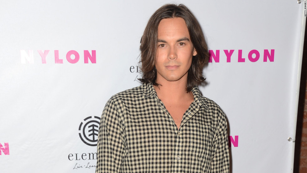 Tyler Blackburn attends NYLON Magazine's party in Hollywood.