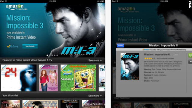 Amazon's instant video app for the iPad hit the App Store Wednesday morning.