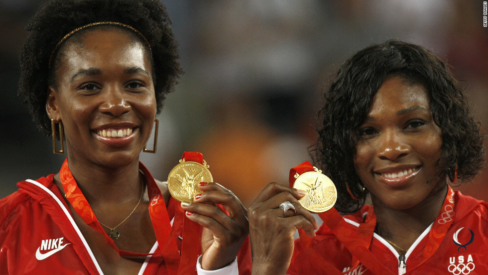 American tennis stars Venus and Serena Williams have won two gold medals together in women's doubles. Their first came at Sydney 2000, where Venus also won the singles competition.