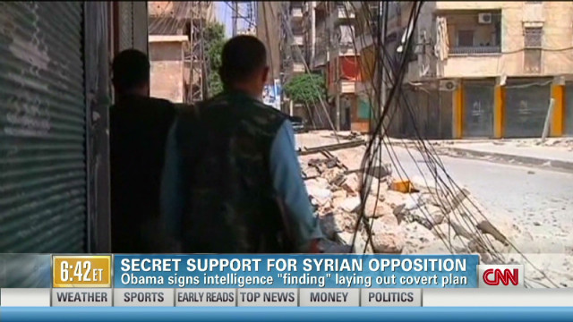Secret support for Syrian opposition
