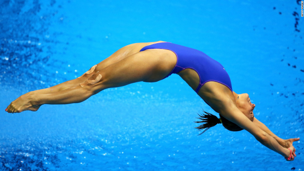 Tania Cagnotto of Italy competes in the women's 3-meter springboard diving preliminary round.