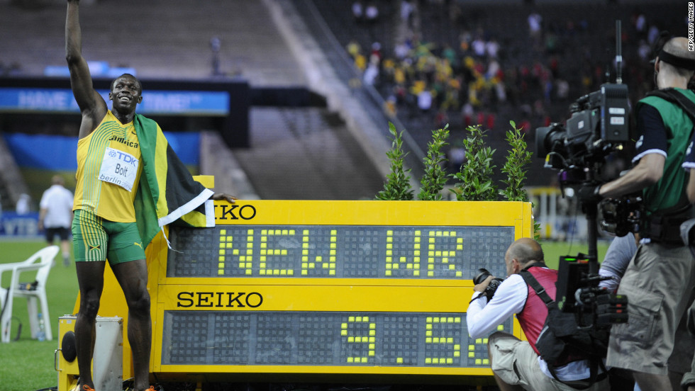 Bolt broke his own world record a year later, posting a time of 9.58 seconds at the 2009 World Championships.