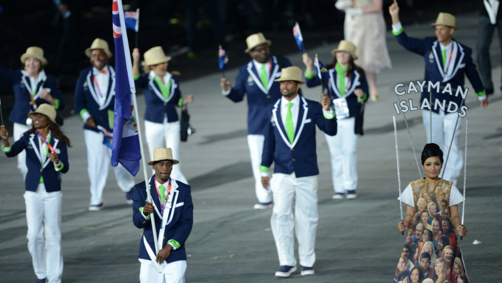 The prize for such feats came in the opening ceremony of London 2012 when Hyman lead the Cayman Island's team, all seven of them, into the 80,000-seater arena to join the rest of the athletes taking part in the event.