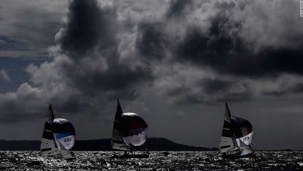 Competition begins in the 470 women's class sailing in Weymouth, England.
