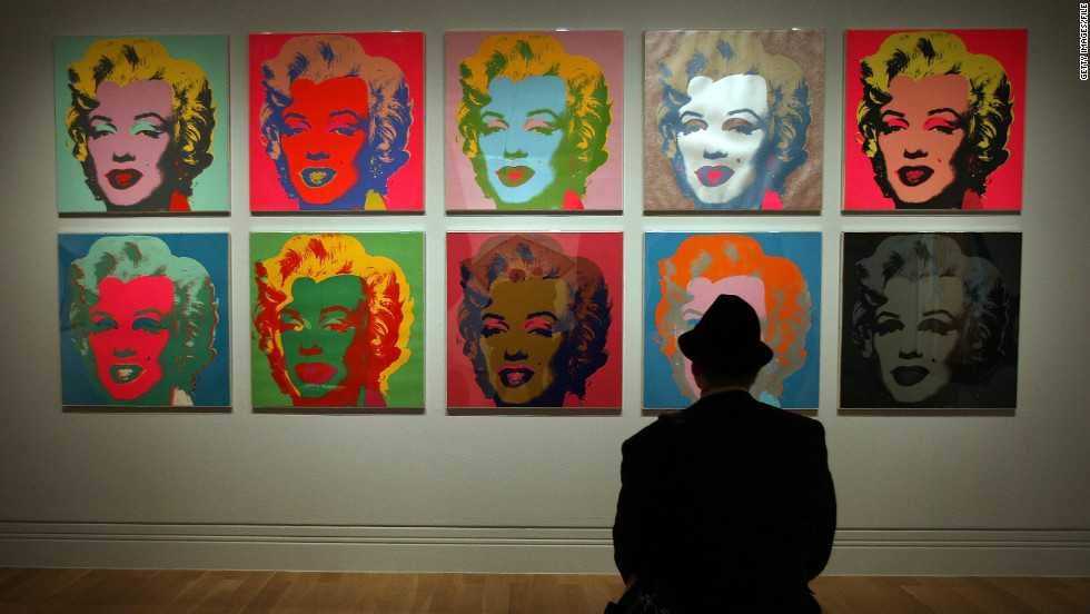 Marilyn Monroe was one of many celebrities Warhol used in his works.