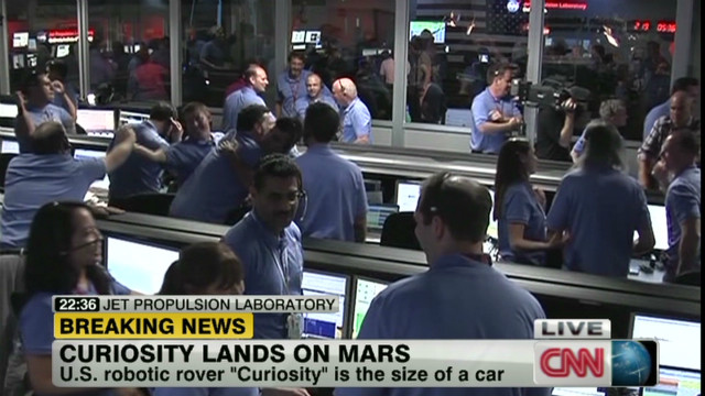 NASA rover 'Curiosity' lands on Mars