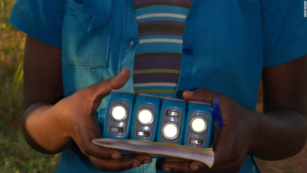 The human-powered device can recharge up to five modular light emitting diode lamps in approximately 20 minutes.