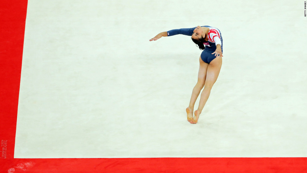 Alexandra Raisman of the United States competes in the women's floor exercise final Tuesday, August 7, at the 2012 Olympic Games in London.