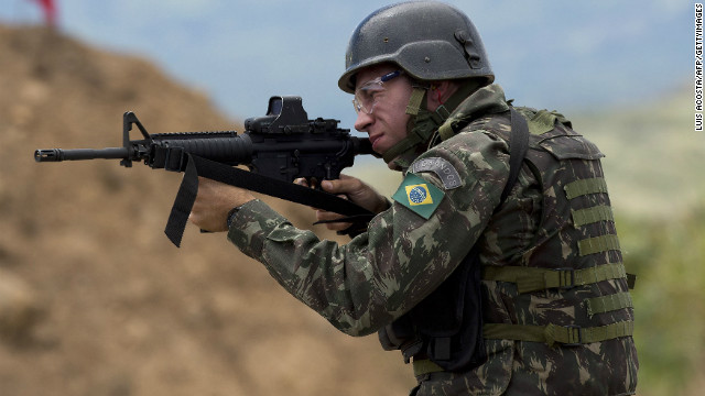 "The Brazilian Ministry of Defense sent 7,500 troops to the country's northwest borders to crackdown on ""cross-border crimes."""
