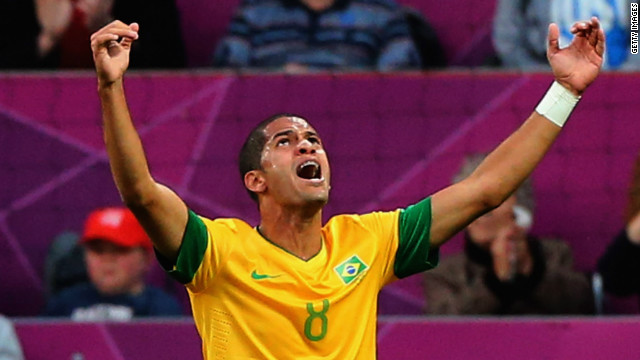 Defensive midfielder Romulo scored the first goal in Brazil's 3-0 semifinal defeat of South Korea.