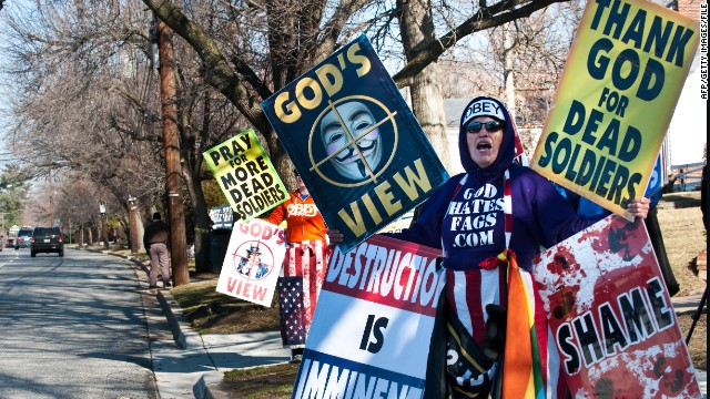 Gabe Rottman says Westboro Baptist Church's hateful protests, such as this one, are protected speech.