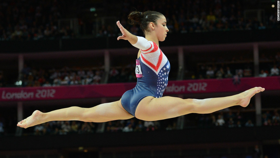"U.S. gymnast Ali Raisman was proud of her gymnastics perfomance during the London Games. While she received a bronze medal in artistic gymnastics, seen here, she also won in other events. ""I guess winning two gold medals and then that really exciting feeling of getting the bronze medal, like seeing that up on the score board was really cool,"" she gushed to CNN."