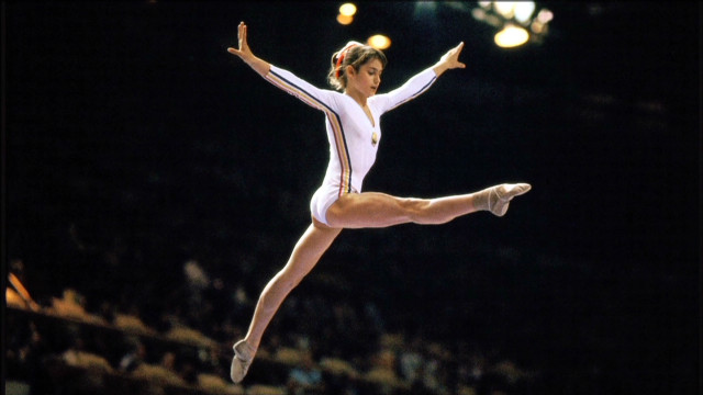 Comaneci's perfect 10 caught on camera