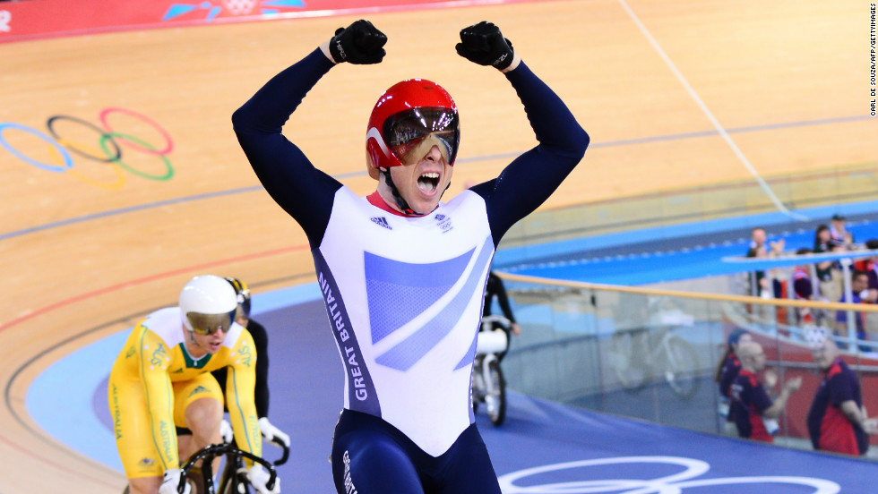 Winning naturally elevates testosterone levels, but so does striking the type of expansive pose adopted by Great Britain's Chris Hoy upon winning gold in the men's keirin cycling.
