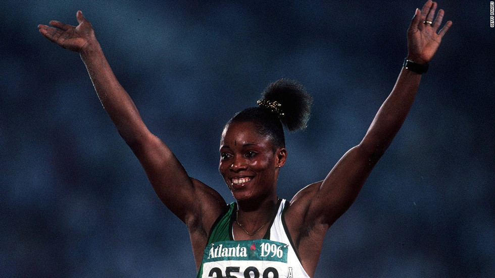 With her victory in Atlanta, she also became the first African woman to win gold in a field event.