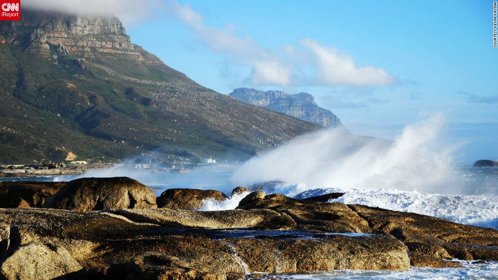 "<a href=""http://ireport.cnn.com/docs/DOC-824483"">Kevin Kasmai </a>captured this shot while traveling south from Cape Town toward the Cape of Good Hope. ""The images of the clouds rushing down Table Mountain on a windy day in Cape Town and the views overlooking the Cape of Good Hope towards the southern ocean were unlike any I had seen before,"" he says."