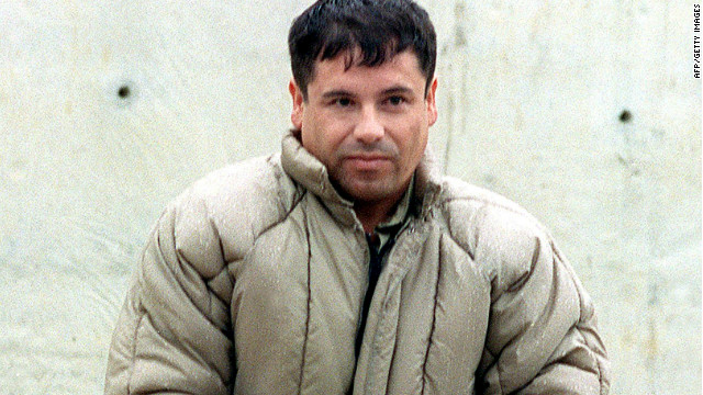 "Drug boss Joaquin ""El Chapo"" Guzman Loera is seen at a Mexican maximum security prison before he escaped in 2001."