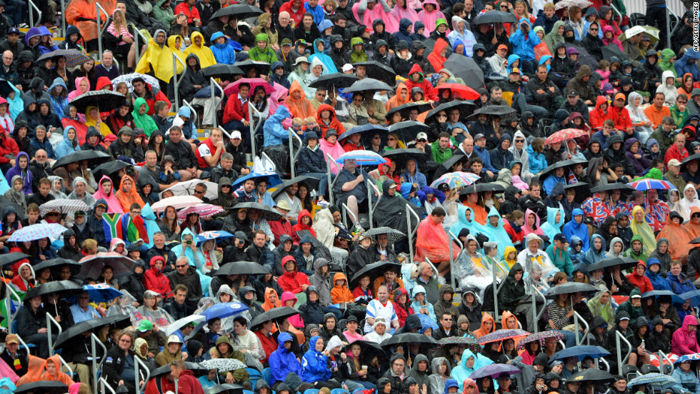 Even the traditional British summer weather hasn't been able to dampen the spirits of fans from all over the world.