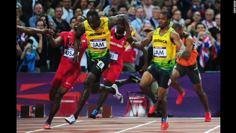 Everyone came to see Usain Bolt, and he did not disappoint. The 25-year-old Jamaican won three gold medals at the London Olympics; two individually (100m and 200m) and one in a team event (pictured above -- the men's 4 x 100m relay).