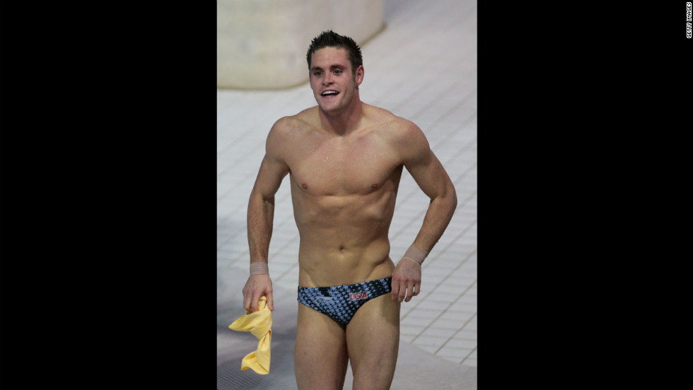 David Boudia reacts to winning gold in the men's 10-meter platform final.