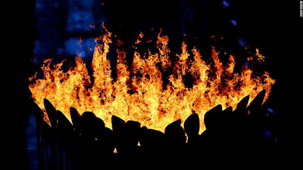 "The Olympic Cauldron burns during the closing ceremony. Look back at photos from the <a href=""http://www.cnn.com/2012/07/27/worldsport/gallery/olympic-opening-ceremony/index.html"" target=""_blank"">opening ceremony.</a>"